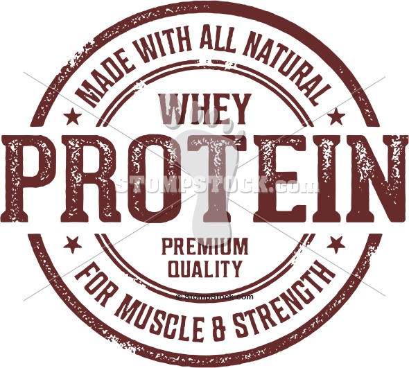 Whey Protein Label Stamp