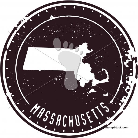 Vintage Massachusetts USA State Stamp – Seal