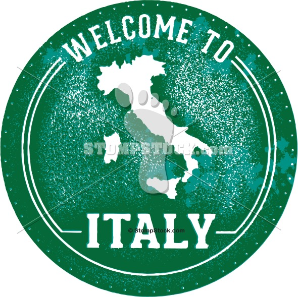 Welcome to Italy Rubber Stamp Image