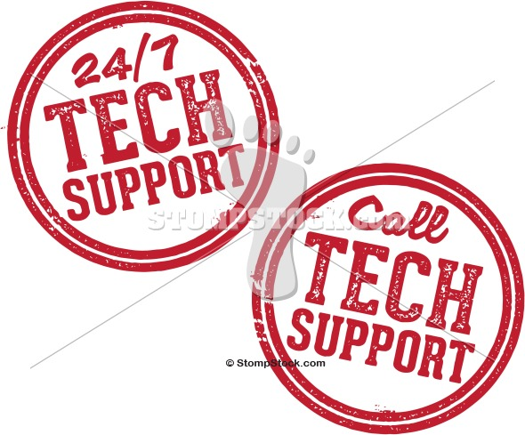 Tech Support Stamp Icons