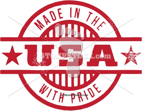 Made in the USA Rubber Stamp Image