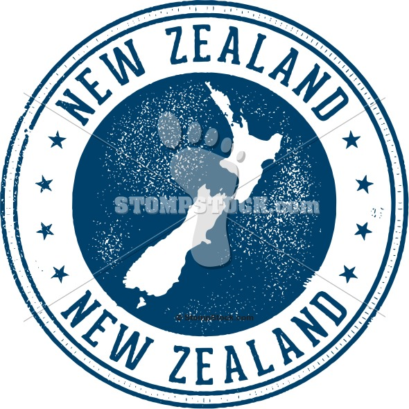 New Zealand Country Stamp
