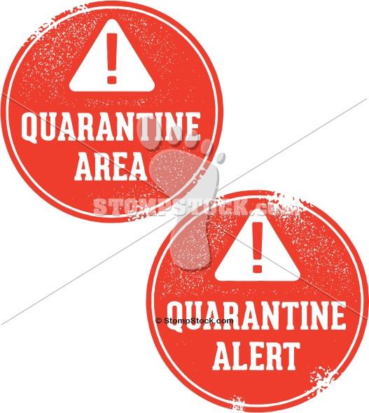 Quarantine Area Warning Stamp