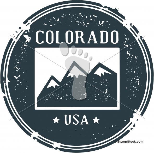 Vintage Colorado USA State Stamp – Seal
