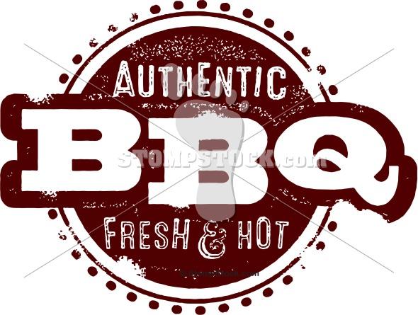 Vintage BBQ Barbecue Logo Design