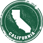 Vector California USA Stamp