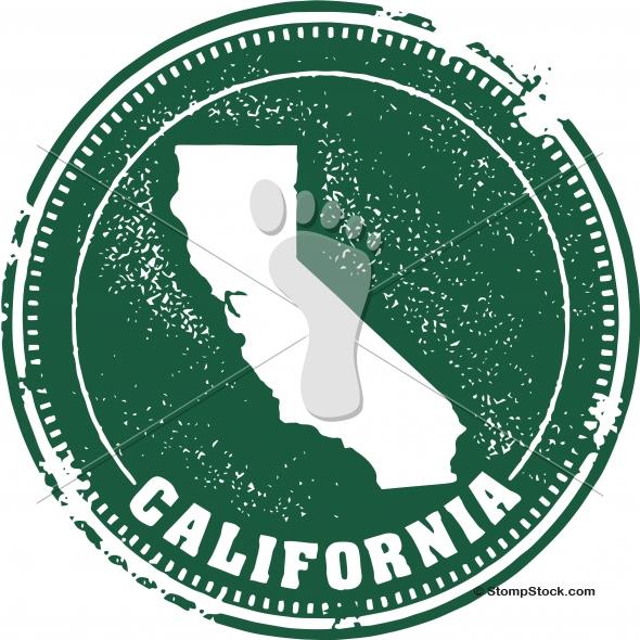 Vintage California USA State Stamp – Seal