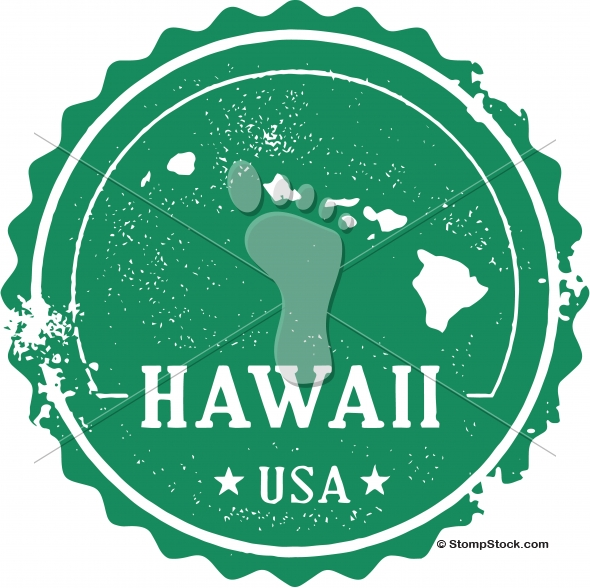 Vintage Hawaii USA State Stamp – Seal