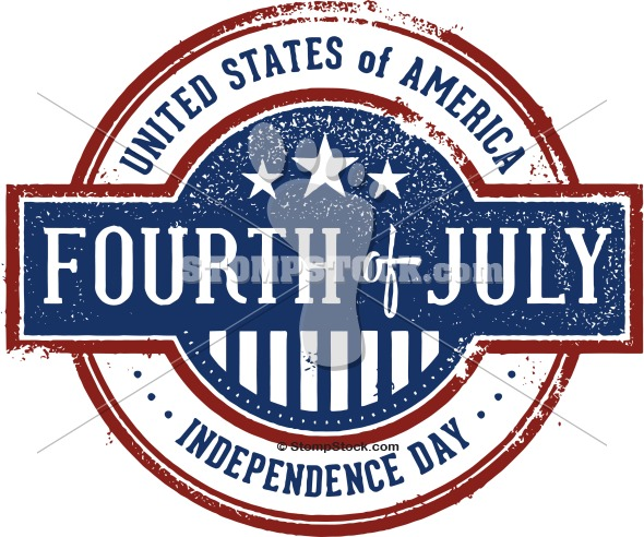 Vintage Fourth 4th of July Logo Design