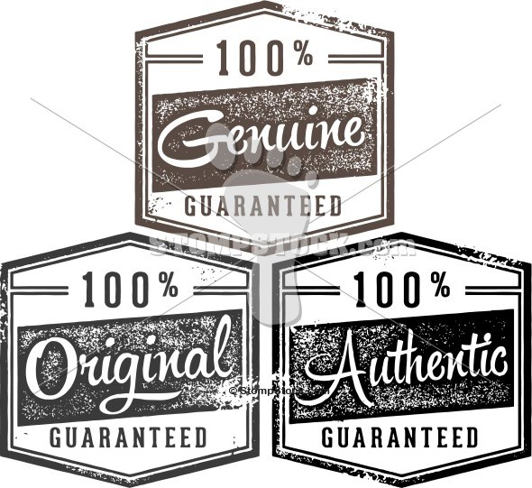 Genuine, Orginal, Authentic Product Stamps