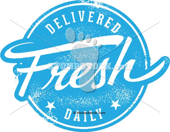 Delivered Fresh Daily Rubber Stamp