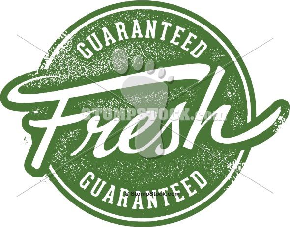 Guaranteed Fresh Rubber Stamp