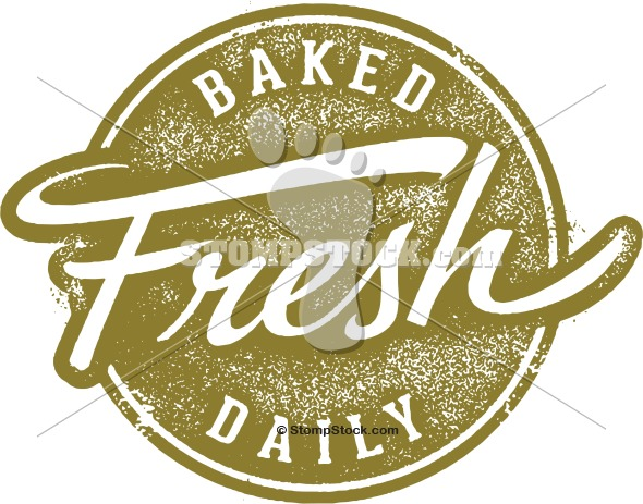 Baked Fresh Daily Rubber Stamp
