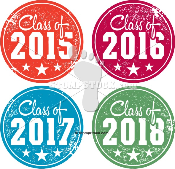 Class of 2015 – 2016 – 2017 – 2018 Graduation Stamps