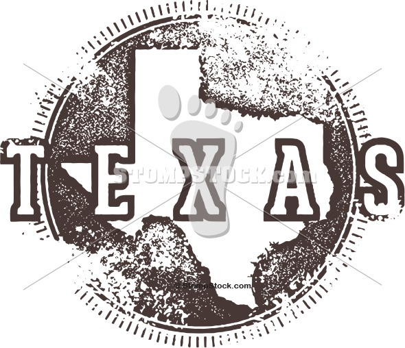 Distressed Texas State Stamp