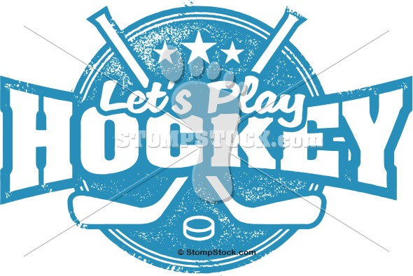 Let's Play Hockey Sports Clip Art