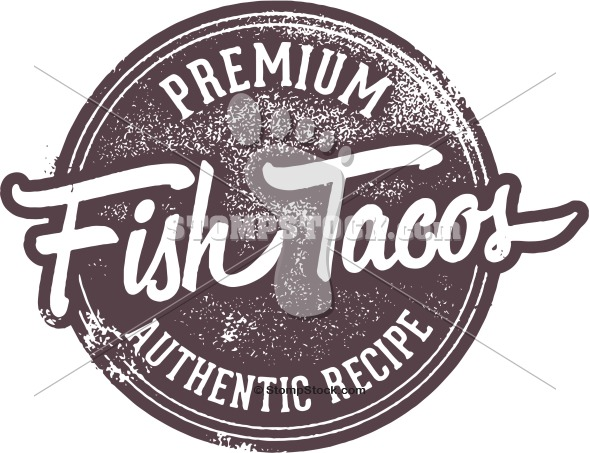 Authentic Fish Tacos Clip Art