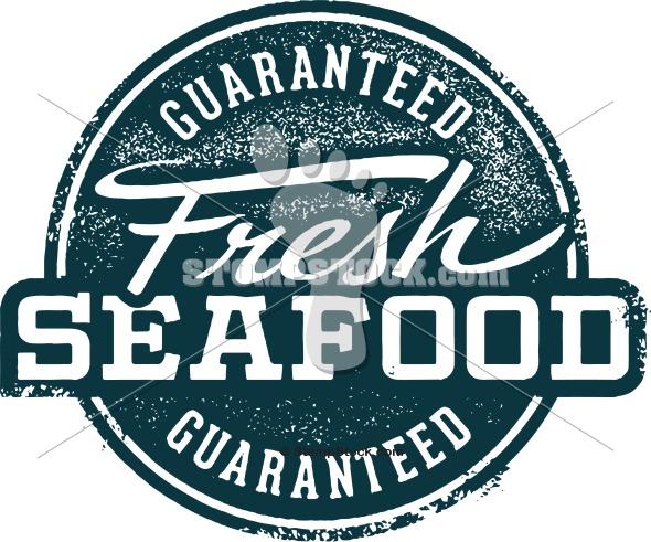 Fresh Seafood Market Stamp