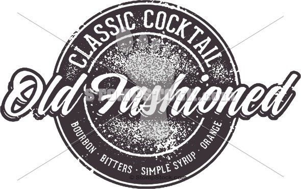 Old Fashioned Cocktail Clip Art