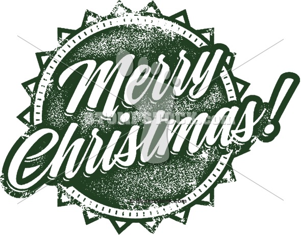 Merry Christmas Vintage Clip Art