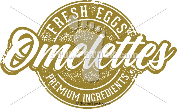 Vintage Style Clip Art – Breakfast Omelettes