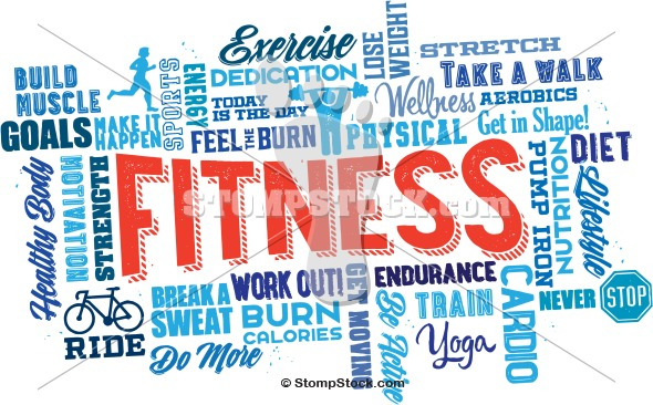 Fitness and Exercise Word Cloud
