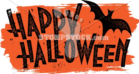Happy Halloween Grunge Banner Clip Art