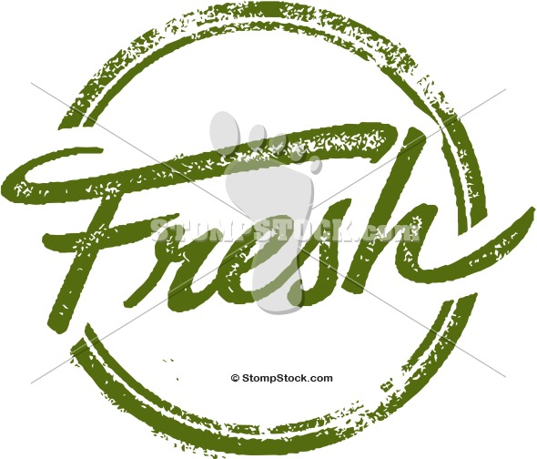 Fresh Foods Rubber Stamp Clip Art