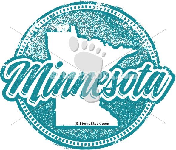Vintage Minnesota State Stamp