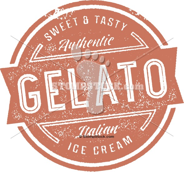 Vintage Gelato Ice Cream Sign