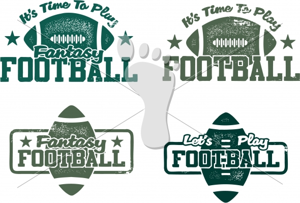 American Football and Fantasy Football Vector Graphics