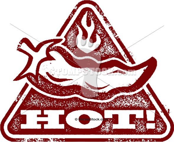 Warning: Hot & Spicy Clip Art