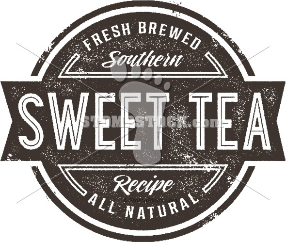 Vintage style Sweet Tea Clip Art