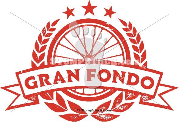 Gran Fondo Vintage Cycling Clip Art