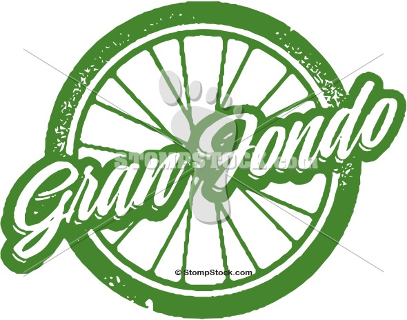 Gran Fondo Bicycle Ride Clip Art