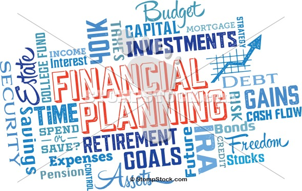 Financial Planning Word Cloud Clip Art