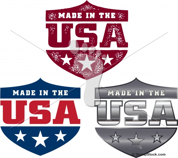 Vector Made in the USA Shield Logos