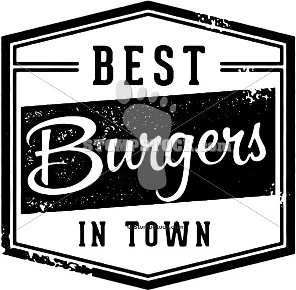 Vintage Best Burgers Sign