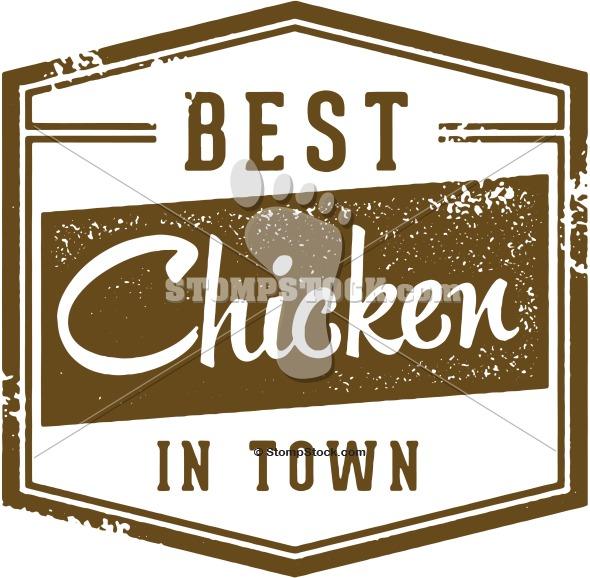 Best Chicken Menu Design Stamp
