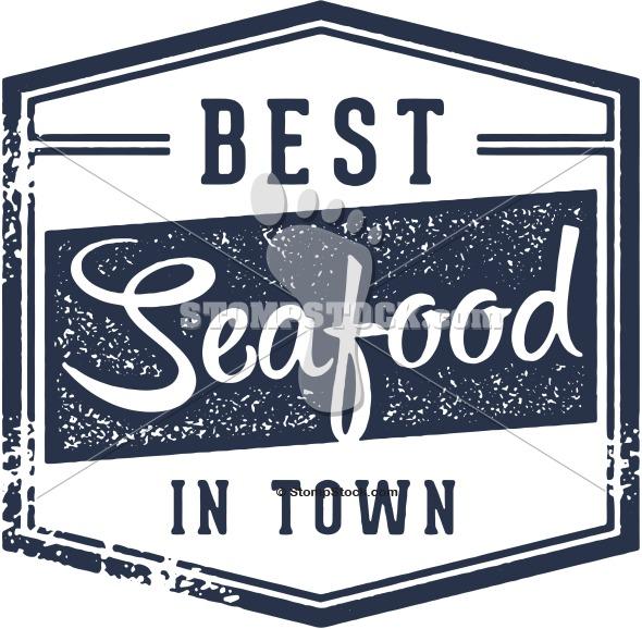 Best Seafood Menu Design Stamp