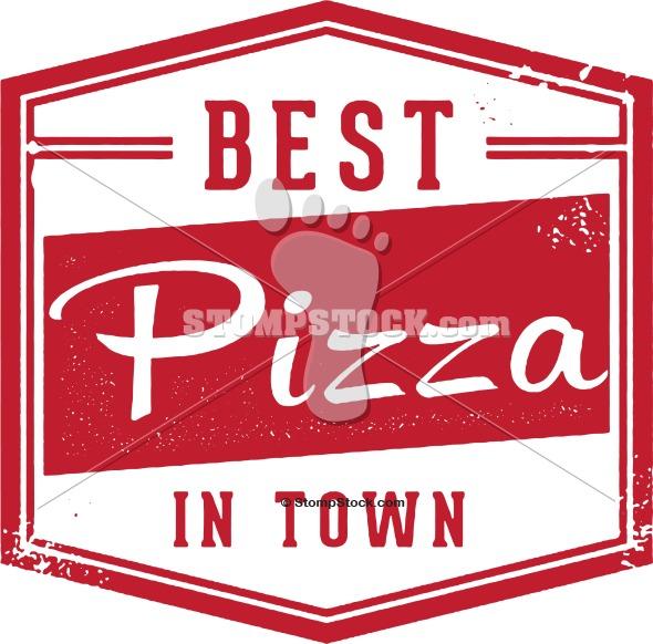 Vintage Best Pizza Sign