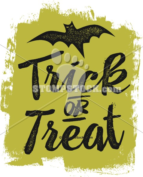 Happy Halloween Trick or Treat Vintage Clipart