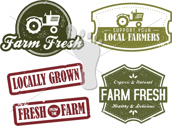 Farm Fresh and Farmers Market Stamps