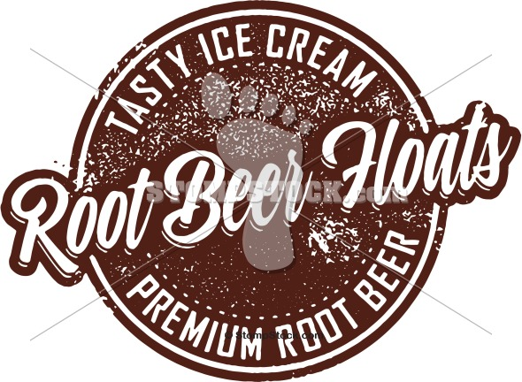 Vintage Stamp Clip Art – Root Beer Floats