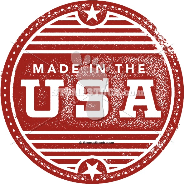 Vintage Made in the USA Rubber Stamp Imprint