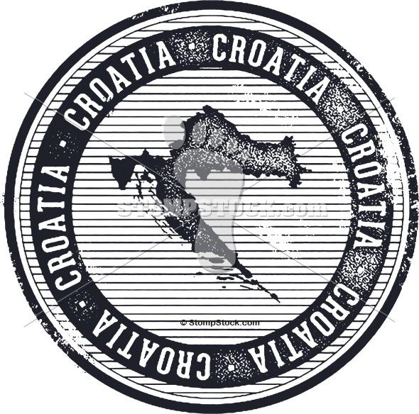 Vintage Croatia Country Stamp