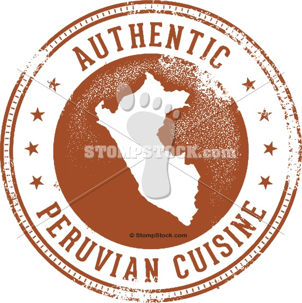 Authentic Peruvian Cuisine Stamp