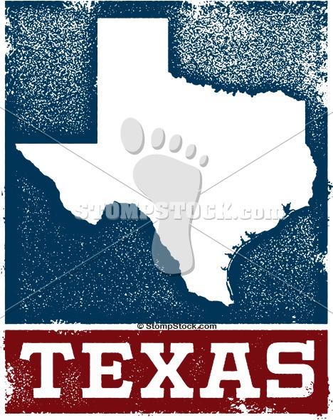 Vintage Texas State Clip Art