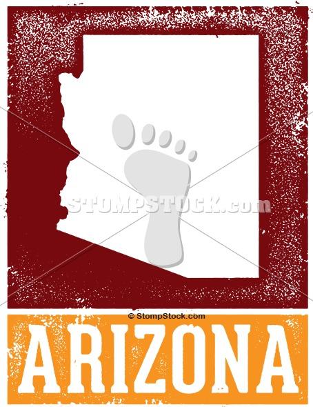 Vintage Style Arizona State Clip Art