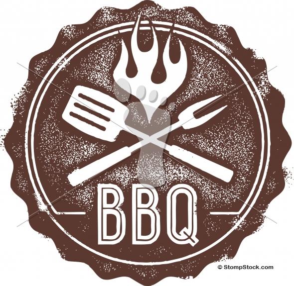 Vintage Barbecue BBQ Menu Stamp